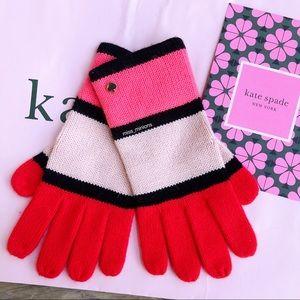 Kate Spade Pink Colorblock Gloves
